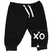 Stephan Baby, XO Baby Pants, Cotton & Spandex, Black & White, 6 to 12 Months