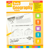 Evan-Moor, Daily Geography Practice Teacher's Edition, Paperback, 160 Pages, Grade 4