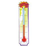 Eureka, Goal Setting Thermometer Banner, 12 x 45 inches