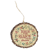 P. Graham Dunn, Jesus Is The Reason For The Season, MDF, 3 3/4 x 3 1/2 x 1/4 inches