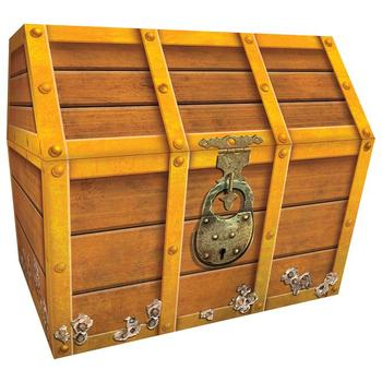 Teacher Created Resources, Treasure Chest, 9 1/2 x 8 x 8 1/2 Inches, Brown, 1 Piece