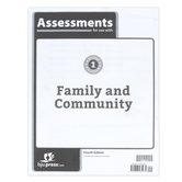 BJU Press, Heritage Studies 1 Assessments, Family and Community, 4th Edition, Paperback, Grade 1