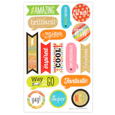 TooCute Collection, Motivational Shaped Stickers, Multi-Colored, Pack of 80