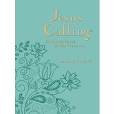 Jesus Calling 365 Daily Devotional, Large Deluxe Edition, by Sarah Young, Imitation Leather, Teal