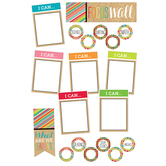 TooCute Collection, Focus Wall Bulletin Board Set, 19 Pieces