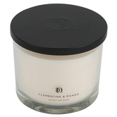 Darsee & David's, Clementine & Mango Jar Candle, Glass & Wax, White, 5 1/4 x 4 1/2 inches