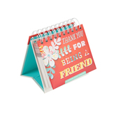 DaySpring, Thank You For Being A Friend Perpetual Calendar, Paper, 5-1/4 x 4-3/4 x 1-1/4   inches