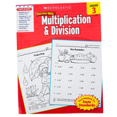 Scholastic, Success With Multiplication and Division Facts Activity Book, 48-Pages, Paperback, Grade 3