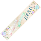 Teacher Created Resources, Rustic Bloom Dreams Grow Here Classroom Banner, Horizontal, 39 x 8 Inches