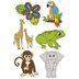 Renewing Minds, Jungle Animals Large Cutouts, 6 Each of 6 Designs, 36 Pieces