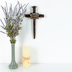 Amazing Grace Nail Wall Cross, Resin, 12 x 6 3/4 x 2 inches