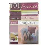 Christian Art Gifts, 101 Favorite Verses for Women (Spanish), Purple, 50 pack, 4 x 2 1/2 Inches
