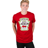 Kerusso, Catch Up With Jesus, Men's T-Shirt, Antique Red, S-3XL
