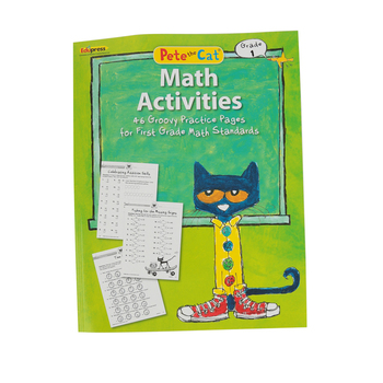 Edupress, Pete the Cat Math Activities Workbook, Paperback, 48 Pages, Grade 1