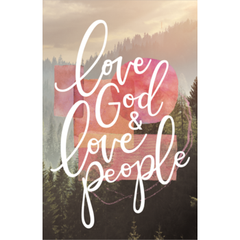 Salt & Light, Love God & Love People Church Bulletins, 8 1/2 x 11 inches Flat, 100 Count