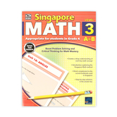 Thinking Kids, Singapore Math Level 3 A and B Workbook, Reproducible Paperback, 256 Pages, Grade 4