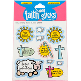 Tyndale, Names of Jesus Stickers, Faith That Sticks, 6 Sheets, Multi-Colored, 66 Stickers