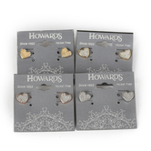 Howard's, Two-Tone Tailor Heart Post Earrings, Nickel-Free Metal, Assorted Color Combinations