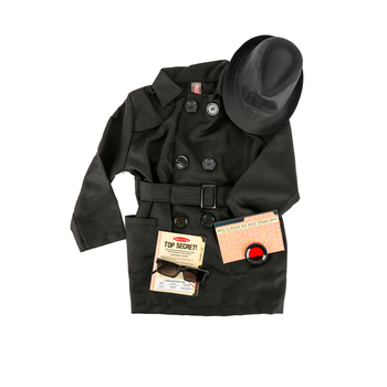 Melissa & Doug, Spy Role Play Costume, Ages 5 to 8 Years Old, 6  Pieces