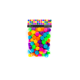 Tree House Studio, Pom Poms, 1 inch, Assorted Bright Colors, 80 Pieces