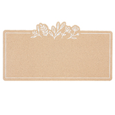 Floral Corkboard, Brown & White, 13 5/8 x 23 1/4 x 3/4 Inches
