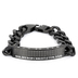 Spirit & Truth, 2 Timothy 2:3-4, Soldier Of Christ, Men's Sport ID Bracelet, Stainless Steel, Black, 8 1/2 Inches