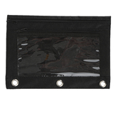 Masters Touch, 3-Ring Binder Pencil Pouch, Black, 7 1/4 x 9 3/4 inches
