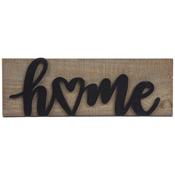 Mardel, Home Wood and Metal Wall Decor, Woodgrain and Black, 11.82 x 4 x 1.44 Inches, 1 Each
