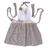 Kay Dee Designs, Queen Bee Apron, Cotton, Peach and Gray, Adult Size