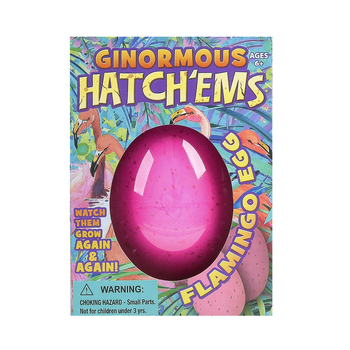 GeoCentral, Ginormous Hatch'ems Flamingo Egg, Ages 6 and Older
