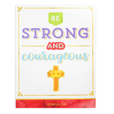 Carson-Dellosa, Be Strong and Courageous Chart, Multi-Colored, 17 x 22 Inches, 1 Each, Grade K-12