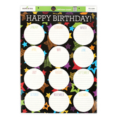 Chalk Talk Collection, Birthday Chart, 17 x 22 Inches, Multi-Colored, 1 Piece