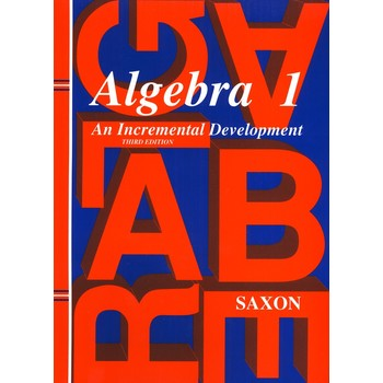 Saxon Algebra 1 Homeschool Kit w/Solutions Manual