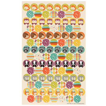Woodland Tails Collection, Mini Incentive Stickers, Multi-Colored, Pack of 1050