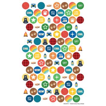 Wander Ridge Collection, Mini Incentive Stickers, Camping Theme, Multi-Colored, 1,050 Stickers