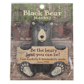 Imagine Design, Psalm 139:14 Be The Beary Best Black Bear Magnet, 3 1/2 x 3 inches