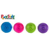 Playside Creations, Smiley Face PU Balls, 2 Inches Diameter, Assorted Colors, Pack of 12