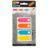 DiverseID, Redi-Tag Check Box Flags, 1/2 x 1 3/4 inches, 12 Each of 4 Colors