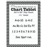 Top Notch Teacher, Chevron Chart Tablet, 24 x 32 Inches, 25 Sheets