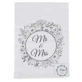 Southern Sisters Home, Mr & Mrs Tea Towel, Cotton, White & Black, 30 x 30 inches
