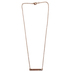 H.J. Sherman, Ephesians 5:20, Grateful Thankful Blessed Bar Necklace, Rose Gold Plated, 18 inches