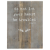 Designs Direct Creative Group, John 14:1 Tabletop Plaque, MDF, Brown, 7 x 9 1/4 inches