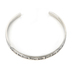 Radiant Sol, Do Small Things With Great Love Bangle Bracelet, Iron, Silver