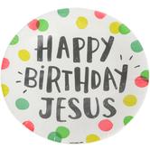 Happy Birthday Jesus Dessert Plates, Multi-Colored Polka Dots, 20 Count