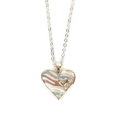 Howard's, Dainty Tritone Heart Necklace with Heart Accent, Metal, Silver, 16 Inches
