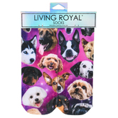 Living Royal, Galaxy Puppy Ankle Socks, Polyester, Multi-Colored, 1 Pair, One Size Fits Most