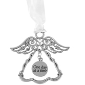 Abbey and CA Gift, One Day at a Time Ornament, Silver, 3 Inches