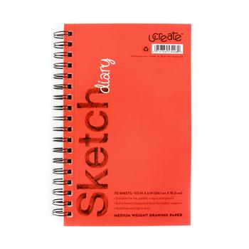 Carolina Pad, U Create Sketch Diary, 9 1/2 x 6 Inches, 70 Sheets