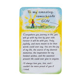 Blue Mountain Arts, To My Amazing Remarkable Son Wallet Card, 2 x 3 1/4 inches