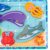 Melissa & Doug, Sea Creatures Chunky Puzzle, 7 Pieces, 9 x 12 inches, Ages 2 to 4 Years Old